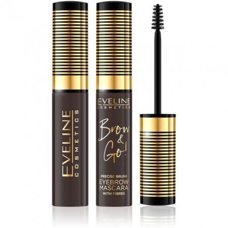 Rimel Sprancene cu Fibre 'Brow & Go' Eveline Cosmetics, 02 Dark