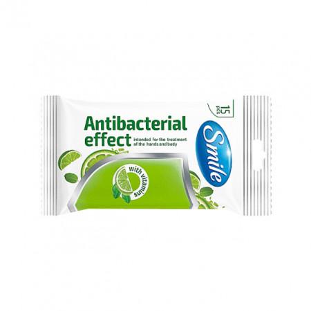 Servetele Antibacteriene Maini si Corp cu Vitamine TM Smile 15 Buc