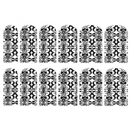 Abtibilde Unghia Intreagă 12 Buc, FD008, Stickere Unghii