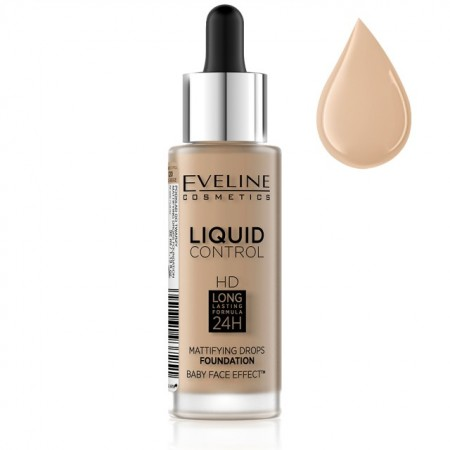 Poze Fond De Ten Eveline Cosmetics Liquid Control, 040 Warm Beige
