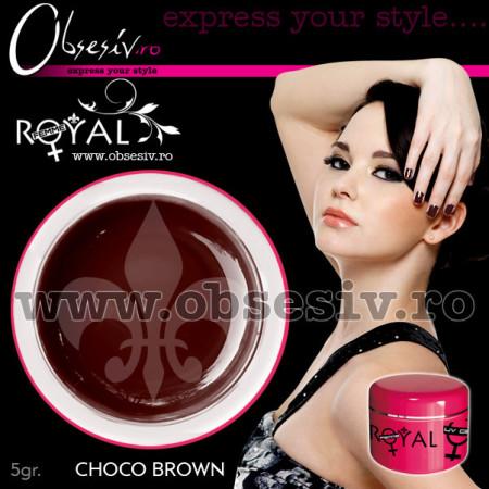 Gel colorat unghii Royal Femme CHOCO BROWN (Geluri Profesionale Unghii)