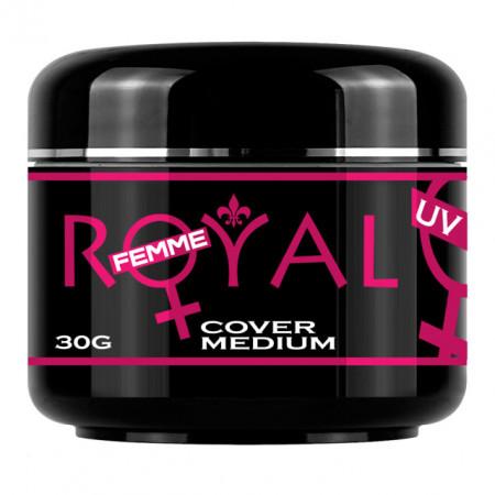 Gel UV Cover Medium Royal Femme, Camuflaj Constructie, 30 ml.