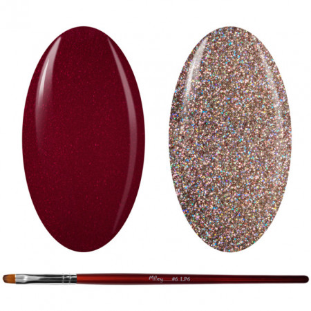 Kit Geluri Color + Pensula Gel Unghii, Cod K2GP-46S/43G