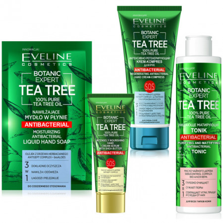 Kit Ingrijire Personala Antibacteriana Botanic Expert Tea Tree Oil 100% Pure Eveline Cosmetics