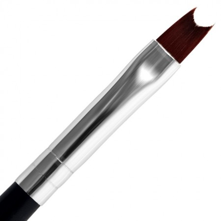 Pensula Gel French cu Capac Metalic, No 8, Lila Rossa