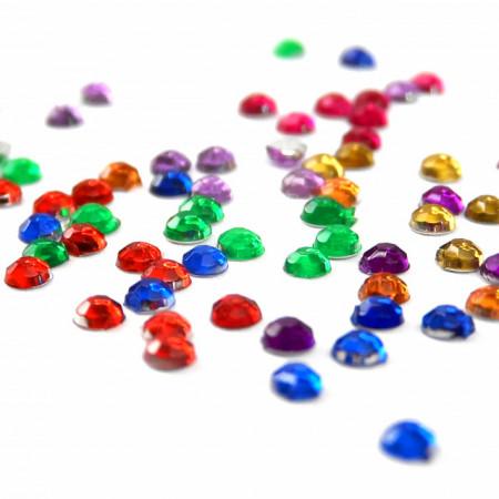 Pietricele Marunte Multicolore Diametru Ø 2mm, Decoruri Unghii de Tip Nail Art