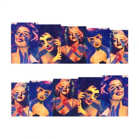 Stickere Unghii pe Bază de Apă (MOVIE STARS), Cod LR-698 (Abtibilduri Unghii - Tatuaje Unghii - Nail Stickere - Water Nail Art)