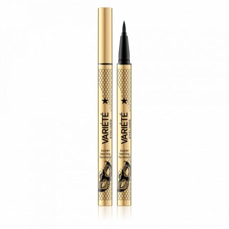 Tus Lichid Ochi Ultra Black cu Varf Foarte Ascutit Eveline Cosmetics Variété Eyeliner