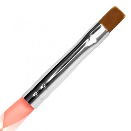 Pensula Gel Unghii No 6 cu Impingator Cuticule