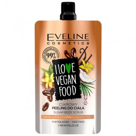 Scrub Corp Detox Vegan cu Extract de Vanilie, Cafea si Lapte de Cocos, Eveline Cosmetics
