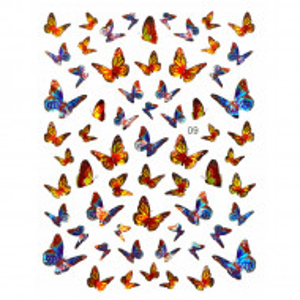 Abtibilde Unghii Motive Decorative Fluturi, JN09