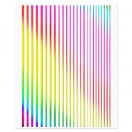 Abtibilde Unghii Motive Decorative Lineare Rainbow