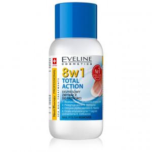 Acetona Unghii Total Action 8 in 1 Eveline Cosmetics, 150 ml