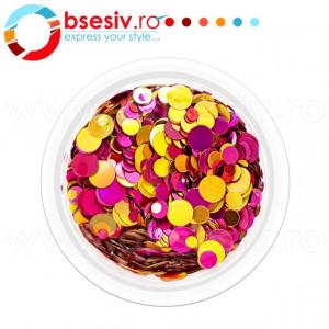 Confetti Unghii, Model 'Buline', Efect Metalizat, Cod CU-05