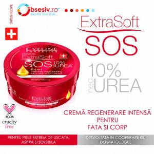 Crema Fata si Corp Eveline Cosmetics Extra Soft SOS 10% neo Urea