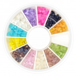 Decor Unghii in Forma de Fundite Multicolore Disc Nail Art