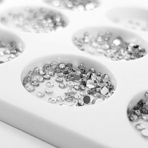 Decoratiuni Unghii Pietricele Argintii Diametru Ø 2mm, Accesorii Nail Art