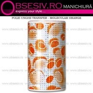 Folie Unghii Transfer - MOLECULAR ORANGE - Folii Decorative Unghii