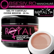 Gel Cover Medium - 30ml (Gel Camuflaj - Gel Constructie) - Royal Femme