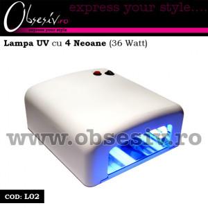 Lampa UV unghii gel cu 4 neoane 36 Watt - L02