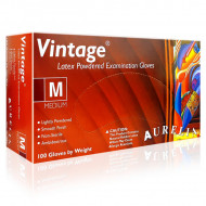 Manusi Examinare Latex Usor Pudrate Aurelia® Vintage® Alb Bej Cutie 100 Buc.