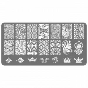 Matrita Metalica Gravata in Profunzime, Cod BC-07, Placa Stampila Unghii