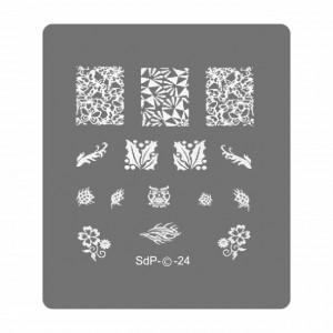 Matrita Metalica Gravata in Profunzime, Cod SdP-24, Placa Stampila Unghii