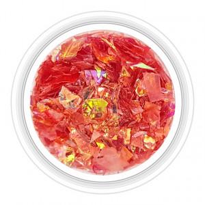 Paiete Unghii Efect de Gheata Culoare Rosu Rose, Cod PG-RR