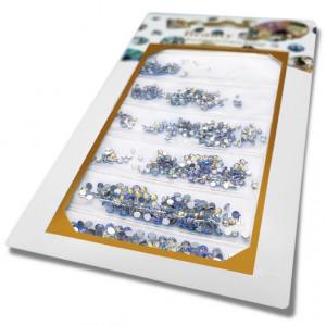 Pietricele Unghii Tip Swarovski, 5 Marimi, Reflexii Albastrui