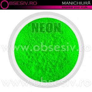 Pigmenti Geluri, Culoare Verde NEON, Pigmenti Colorati Manichiura - Unghii