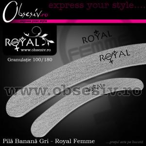 Pila Unghii Banana cu Granulatie 100/180 Royal Femme