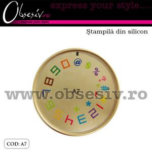 Stampila din silicon pentru decor unghii - A7 (Matrita Unghii)