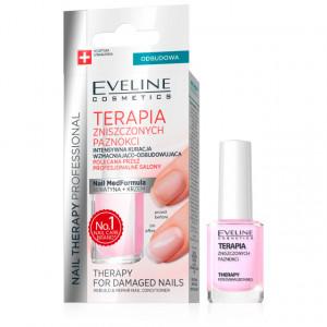 Tratament Intensiv Unghii Distruse Reconstructie si Reparare, Terapia Eveline Cosmetics