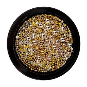Bilute Caviar Unghii, Marimi Diferite, Auriu si Argintiu