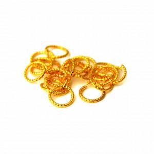 Decor Unghii Metalic, Cerculete Aurii