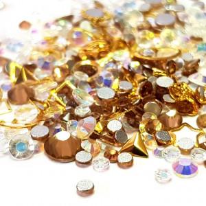 Decor Unghii, Ornamente Metalice si Pietricele, 82224