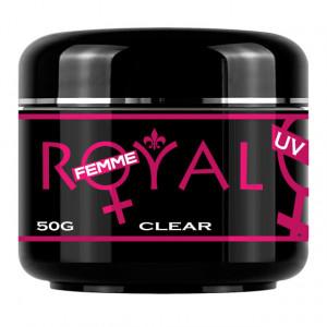 Gel UV Clear Transparent 3 in 1 Royal Femme, Baza Constructie Finish, 50 ml