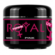 Gel UV Pink 3 in 1 Royal Femme, Baza Constructie Finish, 50 ml