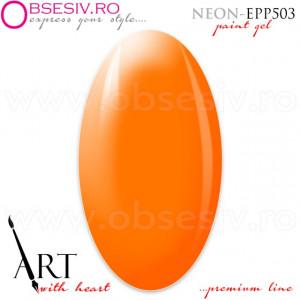 Geluri Paint Premium Line, Exclusive Nails, Cod EPP503, Gramaj 5ml, Culoare Neon Orange