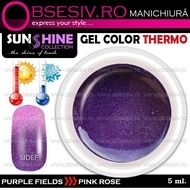 Geluri Thermo Colorate - PURPLE FIELDS > PINK ROSE (Geluri Colorate Thermocrome)