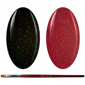 Kit Geluri Color + Pensula Gel Unghii, Cod K2GP-50G/64G