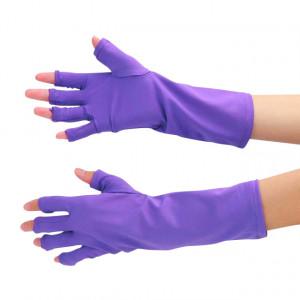 Manusi cu Protectie UV pentru Manichiura Culoare Mov