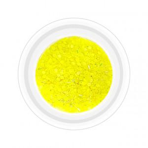 Paiete Unghii cu Holograme Neon Cod NH-01 Culoare Galben