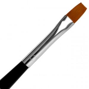 Pensula Gel Dreapta, No 10, Pensula cu Maner si Capac Metalic, Jerome Stage