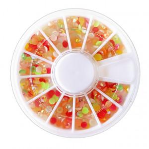 Pietricele Multicolore Unghii Decorative, Discuri Nail Art
