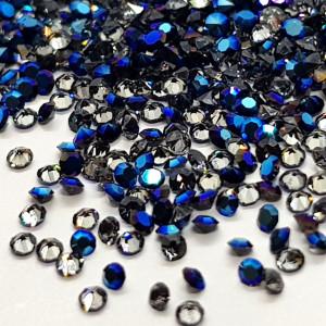 Pietricele Unghii Tip Swarovski, Pixili, Diam. 1mm, 1440 buc, Albastru