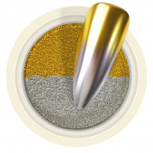 Pigment Pudra Chrome Dual Color, Culori Argintiu Auriu