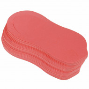 Slapi Unica Folosinta Pedichiura, Set 12 Perechi, Culoare Rosu