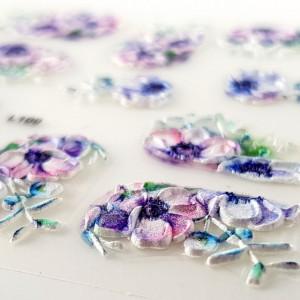 Stickere Unghii 5D, Model Floral, L100