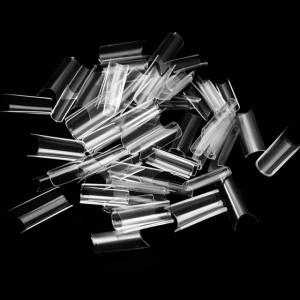 Tipsuri Unghii Pipe Culoare Transparenta 100 Buc